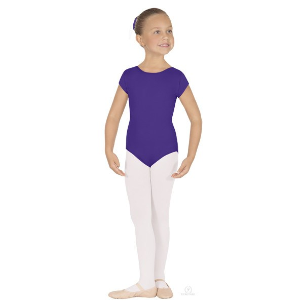 Eurotard 44475C Short Sleeve Microfiber Leotard - Child purple