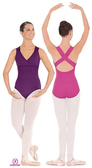Helen Microfiber Woven Lattice Back Leotard