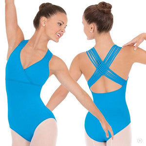 Eurotard 4493 Helen Microfiber Woven Lattice Back Leotard - Adult