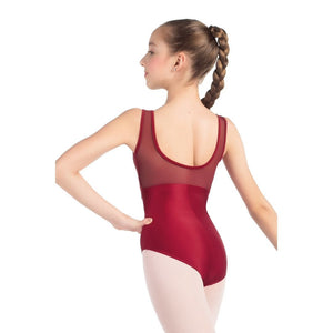 So Danca L-2023LC Lace Overlay Mesh Back Tank Leotard - Child