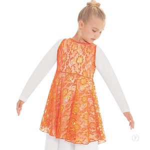 Eurotard 65568C Heavenly Lace Peplum Praise Tunic - Child