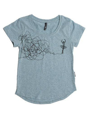 Sugar and Bruno Sketch Ballerina Youth Epic Tee