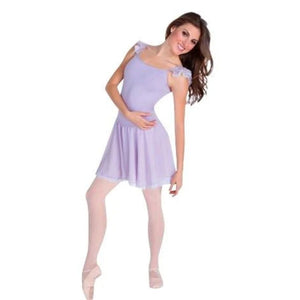 Body Wrappers P715 Camisole Flutter Sleeve Leotard W/Contrast Skirt