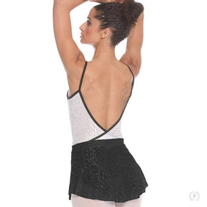 Impression Mesh High Low Pull On Mini Ballet Skirt