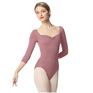 Lulli Women Pinch Front Tactel Long Sleeve Leotard Alla