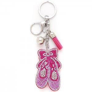 2821 Puffy Ballet Shoe Keychain