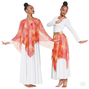 Ignited Glory Handkerchief Skirt and Drape Overlay
