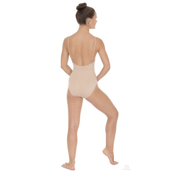 Eurotard 95706 Camisole Leotard with Clear and Matching Straps - Adult back