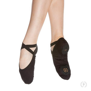 A1004A - Eurotard Adult Assemblé Split Sole Canvas Ballet Slipper