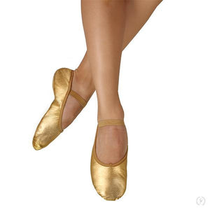 Eurotard Metallic Tendu Full Sole Leather Praise Slipper - Child