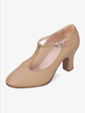 "Bloch S0385L ""Chord"" T-Strap Character Shoes with 3"" heel"