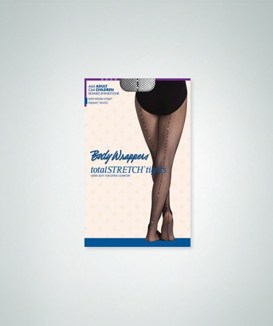 Body Wrappers A64 Adult Rhinestone Seamed Fishnet Tights