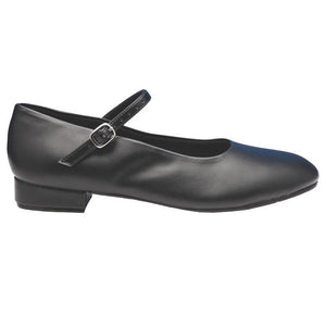 "So Danca CH09 1"" Buckle Strap Character Heel Black"