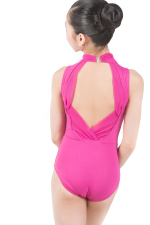 Body Wrappers P1221 Power-Mesh Accent Leotard back view