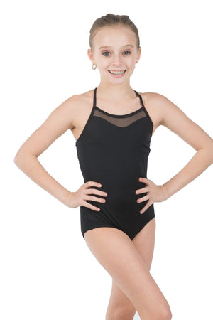 Body Wrappers P1007 Mesh Inserts Camisole Leotard front