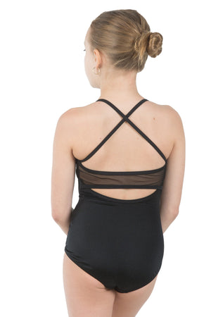 Body Wrappers P1007 Mesh Inserts Camisole Leotard back