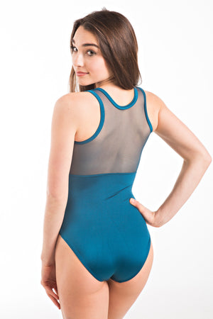 Eurotard 59898 Arrow Mesh Tank Leotard - Adult peacock back