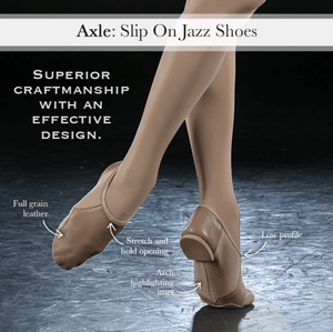 A2054A - Eurotard Adult Axle Slip On Jazz Shoe