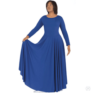 13524 - Eurotard Womens Simplicity Front Lined Long Sleeve Praise Dress