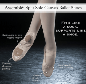 Eurotard Assemblé Split Sole Canvas Ballet Slipper