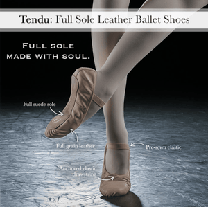 Eurotard Tendu Full Sole Leather Ballet Slipper