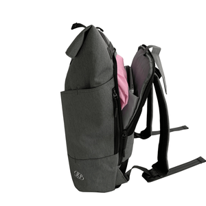 Russian Pointe Origami Backpack Grey - Open