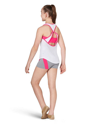Kaia KA052T Open Back Tank Top - Child Pink Back