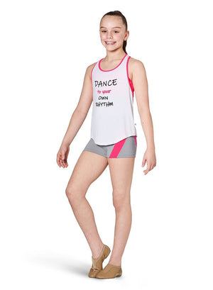 Kaia KA052T Open Back Tank Top - Child Pink Front