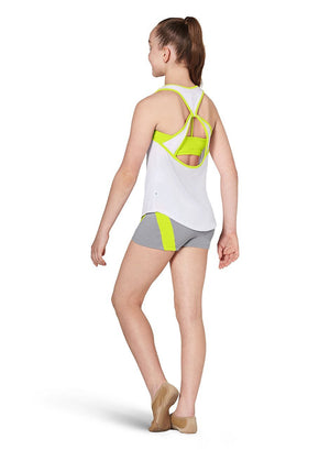 Kaia KA052T Open Back Tank Top - Child Yellow