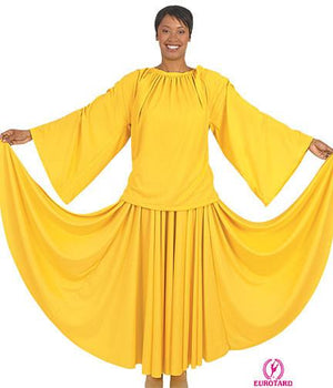 Eurotard 13730 Unisex Angel Sleeve Blouse - Adult yellow