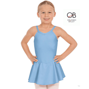 Orlando Ballet Primary A&B Light Blue Camisole Dance Dress with Logo