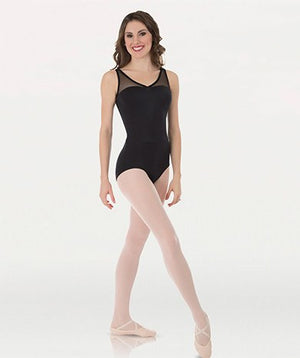 Tiler Peck Bodywrappers P1001 Power Mesh Yokes Leotard Black