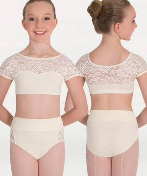 Body Wrappers Romantic High-Waist Brief Ivory
