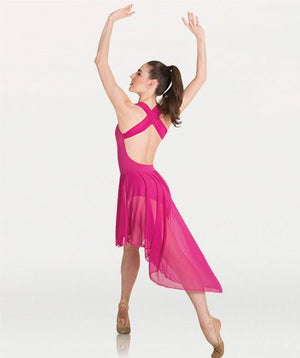 Body Wrappers Tiler Peck P1220 Cross-Strap Low Back Dress