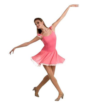 Body Wrappers Tiler Peck P715 Camisole Flutter Sleeve Leotard W/Contrast Skirt