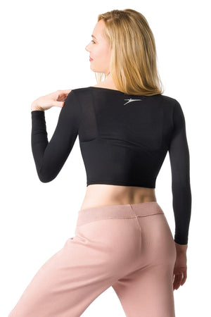 Adult V-Neck Long Sleeve Crop Top by So Danca