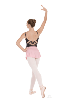 Eurotard 06121 Pull On Mini Ballet Skirt - Adult pink back