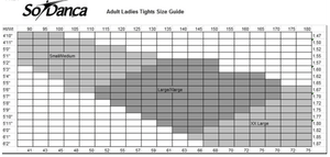 So Danca Tights SIzing Chart