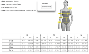 Lulli Dancewear Womens SIzing Guide
