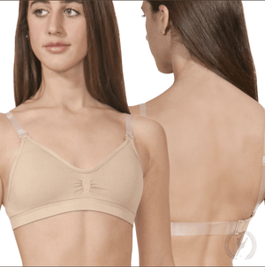 Eurotard EuroSkins Womens Seamless Padded Wide Band Bra