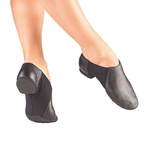 So Danca JZ45 Slip on Split Sole Leather Jazz Shoe BBlack