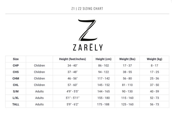 Zarely Tight Sizing Chart