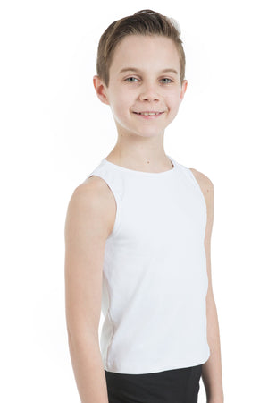 Body Wrappers B407 ProWEAR Hi-Neck Tank Pullover- Child nude white