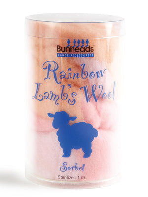 Bunheads Rainbow Lamb's Wool - Pink - Front - Style:BH401