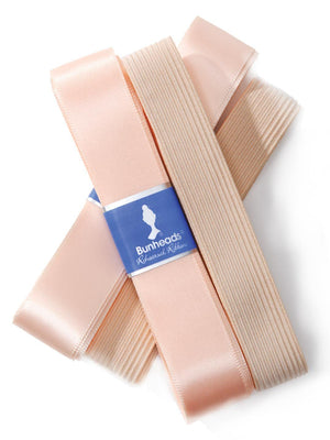 Bunheads Rehearsal Ribbon & Elastic Pack - Pink - Style:BH315