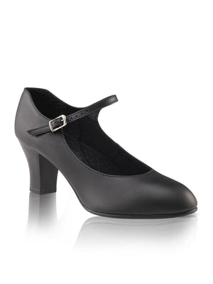 "Capezio 2"" Student Footlight Character Shoe - Black - Style:650"