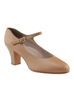 "Capezio 2"" Student Footlight Character Shoe - Tan - Style:650"