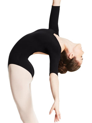 Capezio Boatneck 3/4 Sleeve Leotard - Black - Style:TB243W
