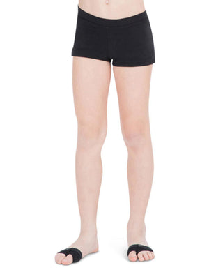 Capezio Boys Cut Low Rise Short - Girls - Black - Front - Style:TB113C