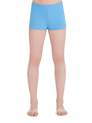 Capezio Boys Cut Low Rise Short - Girls - Blue - Front - Style:TB113C